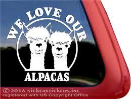 Huacaya Alpaca Decals Stickers Nickerstickers