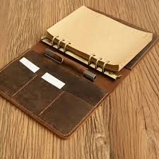 a5 leather refillable planner binder