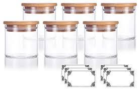 premium borosilicate clear glass jars