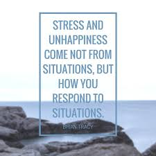 brian tracy happiness quote image stress and unhappiness come