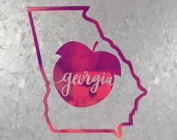 Georgia Yeti Decal Etsy