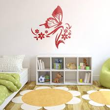 Amazon Com Hooddeal Mirror Wall Stickers Butterfly Flying Diy Wall Decals Peel And Stick Removable Home Decorative Wall Decor For Living Room Nursery Kids Room Red Arts Crafts Sewing