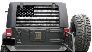 Amazon Com Rear Window Decal Perforated Subdue Distressed American Flag Compatable With General Purpose Vehicle Includes Instalation Kit Kitchen Dining