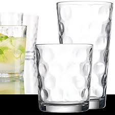bubble design drinking glasses