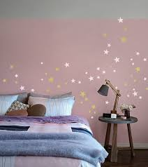 Silver Gold Stars Wall Decal Mix 2 Colored 64 Mixed Size Star Etsy