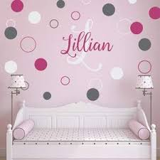 Dots And Circles Script Name And Monogram Kids Wall Decal Jack And Jill Boutique