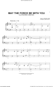 Williams - May The Force Be With You (from Star Wars: A New Hope) (arr.  Phillip Keveren) sheet music for piano solo (big note book)