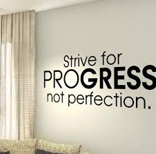 Strive For Progress Not Perfection Motivational Fitness Gym Life Workout Quote Wall Vinyl Decals Stickers Diy Art Decor Bedroom H Motivacion Camisetas Fachadas