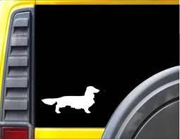 Longhaired Dachshund Window Decal Dog Sticker J616 Etsy