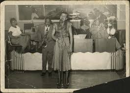 Priscilla Bowman singing with Curtyse Foster Band at unidentified Kansas  City venue | Digital Special Collections