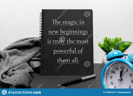 inspirational new year concept and life quote on notepad stock