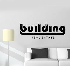 Vinyl Wall Decal Building Real Estate Agency Broker Big City Stickers Wallstickers4you