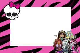 Monster High Free Printable Party Invitations Oh My Fiesta