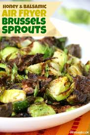 balsamic air fryer brussels sprouts