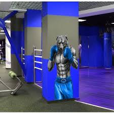 Shop Boxing Wolf Mma Wall Decal Gym Decor Overstock 32044123