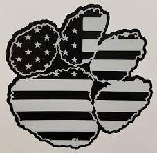 Reflective American Flag Clemson Paw Tigers Decal Sticker Ebay