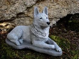 german shepherd statue concrete dog