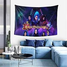 Amazon Com Giphojo Descendants 3 Ultra Soft Micro Fleece Tapestry Throw Fuzzy Lightweight Hypoallergenic Plush 3d Fashion Print Tapestry Art Wall Hanging For Living Room Bedroom All Season Black One Size Everything Else