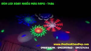 Đèn LED xoay nhiều màu FAPU trang trí phòng hát Karaoke. Ms: T486 -  0909555884 - YouTube