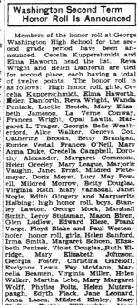 Irma Smith Honor Roll - Newspapers.com
