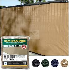 Amazon Com Fencescreen 6ft X 50ft Fence Windscreen Tan Beige 88 Blockage Privacy Screen Mesh Fence Cover 3 Year Warranty 155 Gsm Garden Outdoor