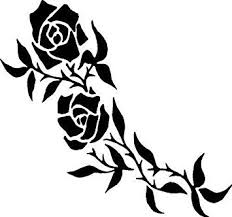 Amazon Com Rose Vine Vinyl Decal Car Window Wall Laptop Sticker Die Cut Vinyl Decal For Windows Cars Trucks Tool Boxes Laptops Macbook Virtually Any Hard Smooth Surface Automotive