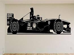 Indy Racing Race Car Auto Wall Decal Stickers Murals Boys Room Man Cav