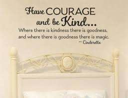 Cinderella Have Courage And Be Kind Princess Room Wall Decal Sticker 1 Lucky Girl Decals