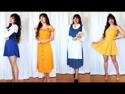 diy belle costumes belle disneybound