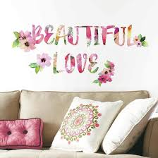 Beautiful Love Watercolor Quote Peel And Stick Wall Decals Wall Decal Allposters Com