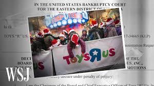 how toys r us went bankrupt wsj