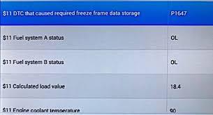 scan tool freeze frames using generic