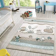 Amazon Com Kids Rug With Cute Farm Animals In Pastel Colors Modern Area Rug For Childrens Room Size 6 7 X 9 6 Colour Beige Home Kitchen