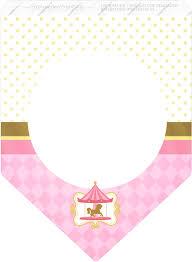 Carrusel En Rosa Imprimibles Gratis Para Fiestas Oh My Bebe