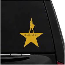 Amazon Com Hamilton Star Vinyl Vehicle Sticker Arts Crafts Sewing