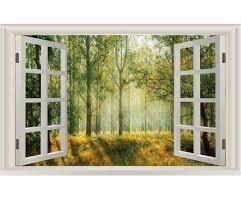 Vwaq Landscape Wall Decals Window Nature Scene Vinyl Mural For Wall