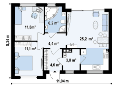 60 70 square meter house plans