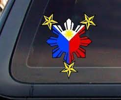 Philippine Flag Sun With Nautical Star Car Decal Stickers Check This Awesome Product By Going To The Lin Bumper Stickers Car Decals Stickers Nautical Star