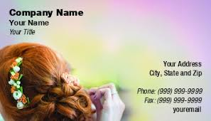 bridal makeup artist business cards
