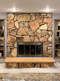 limewash stone fireplace makeover bye