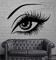 Hot Big Eye Lashes Vinly Wall Stickers Sexy Beautiful Female Eye Wall Decal Decor Home Wall Mural Home Design Art Sticker Wall Decal Deals Wall Decal Decor From Joystickers 9 86 Dhgate Com