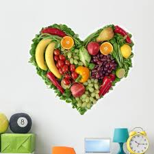 Heart Fruits And Vegetables Wall Decal By Wallmonkeys Peel And Stick Graphic 48 In W X 44 In H Wm349365 Walmart Com Walmart Com