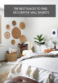 find decorative wall baskets