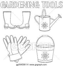vector clipart black and white garden