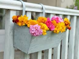 Vegetable Herb Planters Galvanized Railing Planter With Clips
