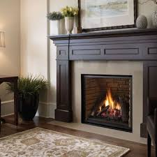 gas fireplace recessed design with