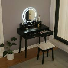 makeup vanity table set with led lights