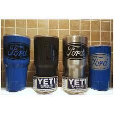 Yeti Authentic Ford Motors Yeti Cup Mug 20 Oz 30 Oz Rambler Yeti Cup Glitter Tumbler Cups Tumbler Decal