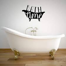 Amazon Com Bath Time Wall Decal For Children S Bathroom Decoration Removable Vinyl Sticker For Home Decor Handmade