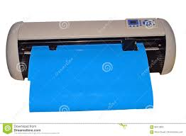 Vinyl Plotter Cutting Machine Isolated With Png File Attached Stock Image Image Of Office White 86013863